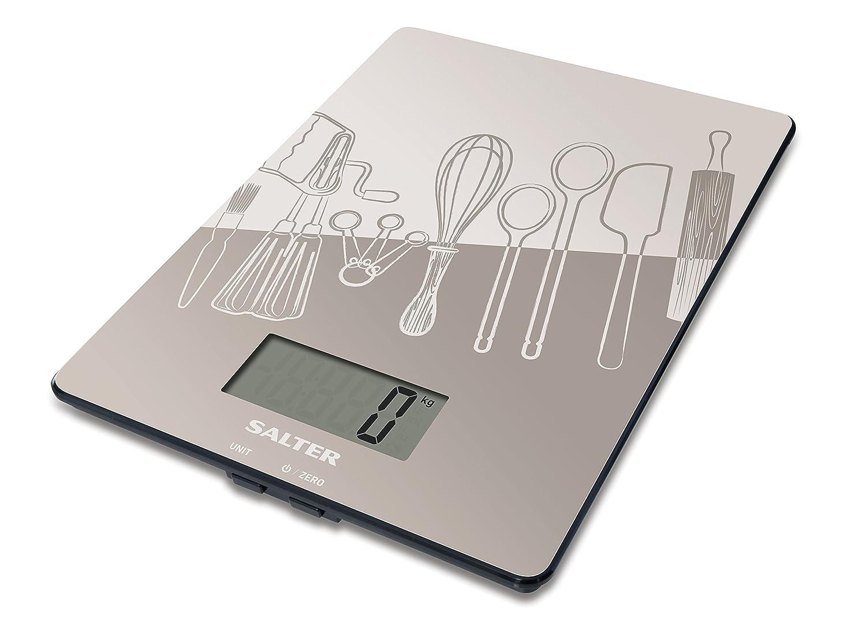 Salter SA 1102 GYDR Balance de Cuisine Électronique avec Motif 5kg balance de cuisine en verre balance de cuisine motifs balance de cuisine vintage balance de cuisine compact