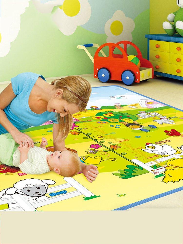 LIUZEIMIN Doppelseitige baby krabbeln matte,Sichere kinder puzzle spielmatte Spielen sie aktivität aktivität sie matte teppich für innen und außen 180  200cm-A 200cm180cm 2290e5