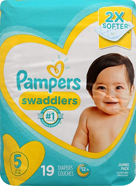 Pampers Swaddlers Diapers Comfort Protection softer Choose Your Size