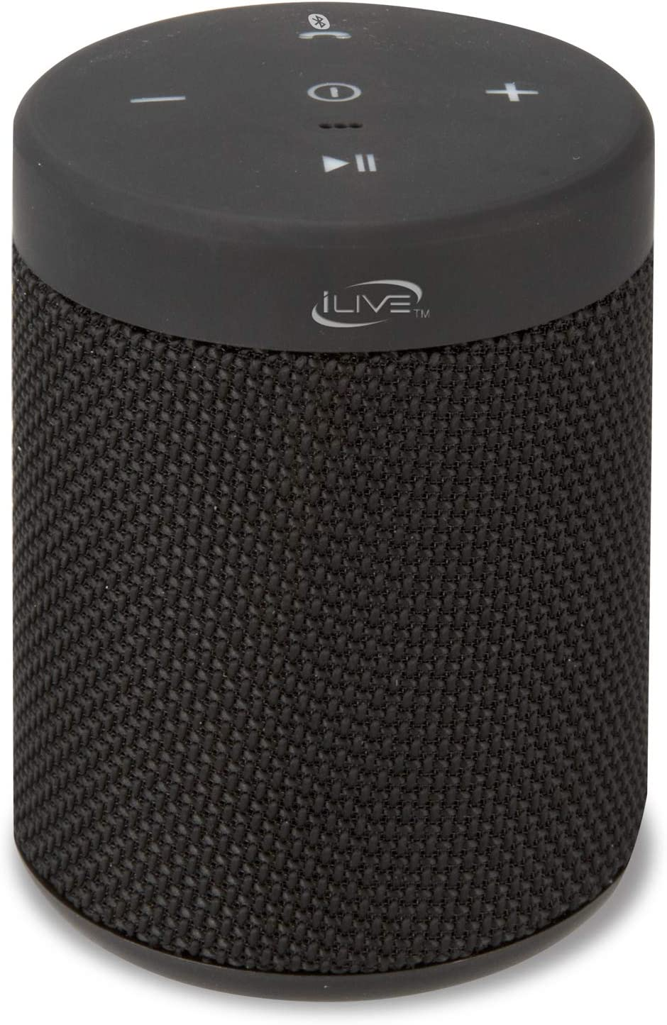 Amazon Com Ilive Waterproof Fabric Wireless Speaker 2 56 X 2 56 X 3 4 Inches Built In Rechargeable Battery Black Isbw108b Home Audio Theater