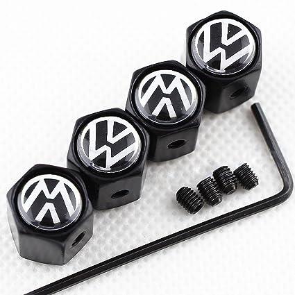 Amazon Com Champled New 4pc Vw Volkswagen Logo Metal Black Anti