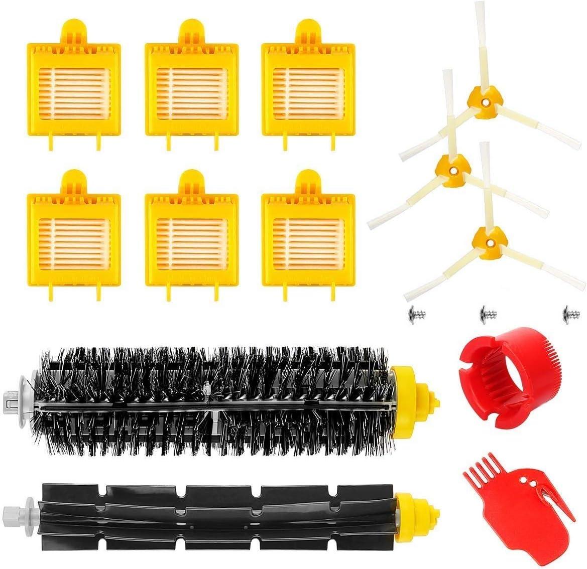 MAXDIRECT Pack Kit de 13 PCS de Accesorios y Recambios Roomba Serie 700 (Cepillos, Cerdas, Filtros y Brush) para Aspiradoras iRobot Roomba Serie 700.: Amazon.es: Hogar