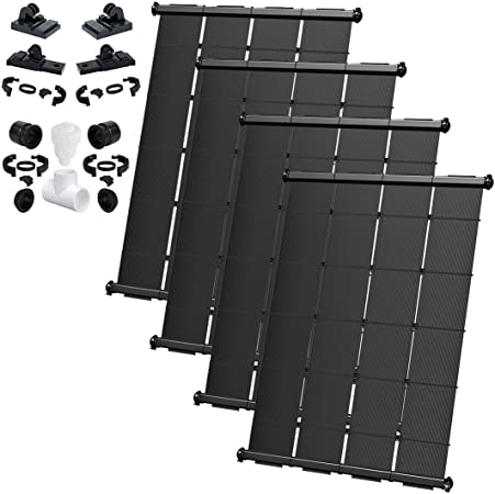 Amazon Com Solarpoolsupply Industrial Grade Diy Solar Pool Heater System Kit Lifetime Limited Warranty Strapless Mounting Design 4 4x7 5 120 Square Foot Coverage Garden Outdoor