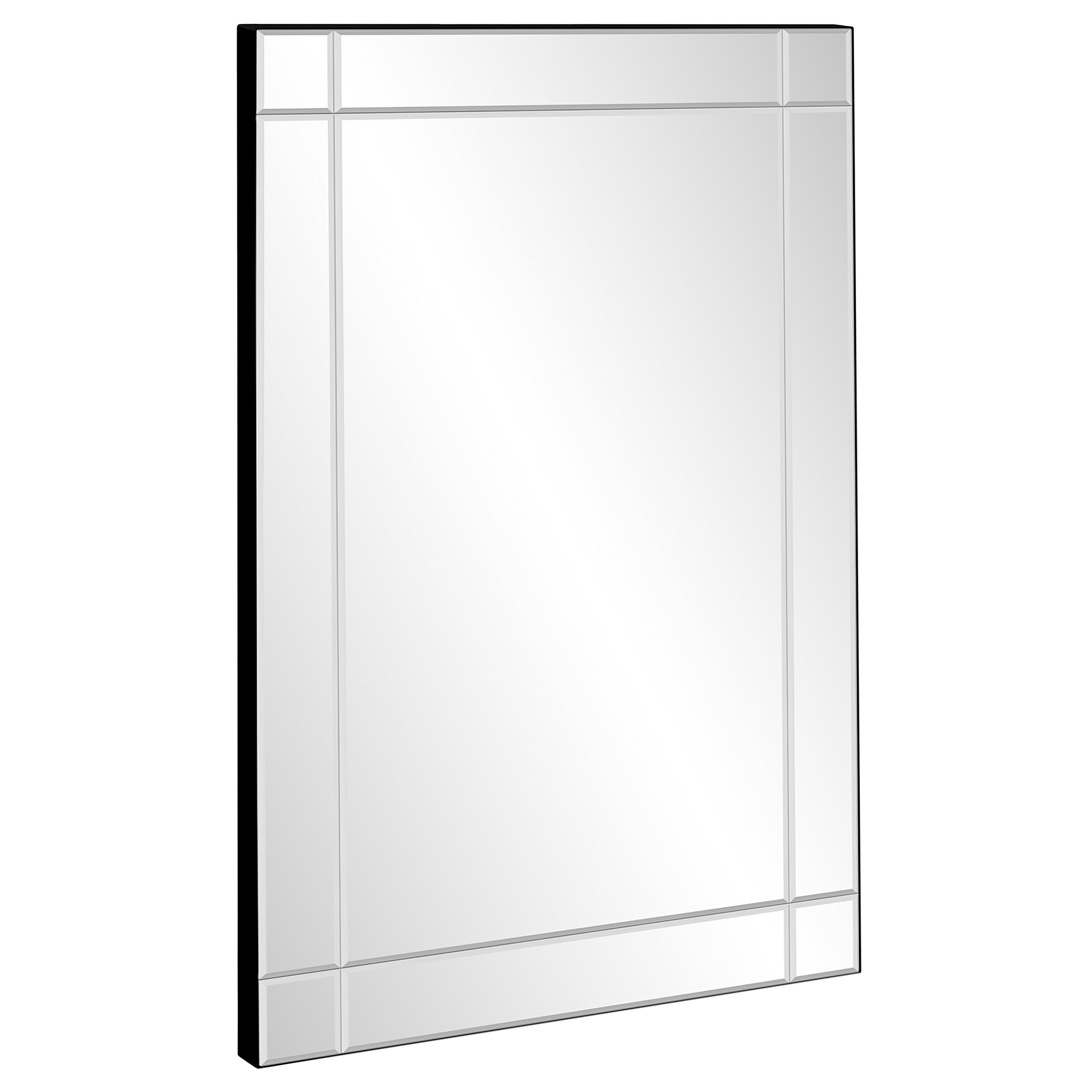 Best Choice Products 36''x24'' Rectangular Bedroom Bathroom Entryway Decorative Frameless Wall Mirror