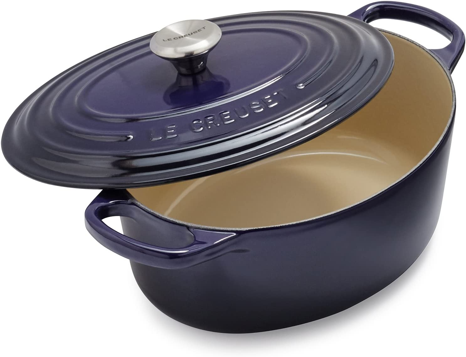 Le Creuset Signature Oval French Oven LS2502-256J, 3.5 qt, Flame