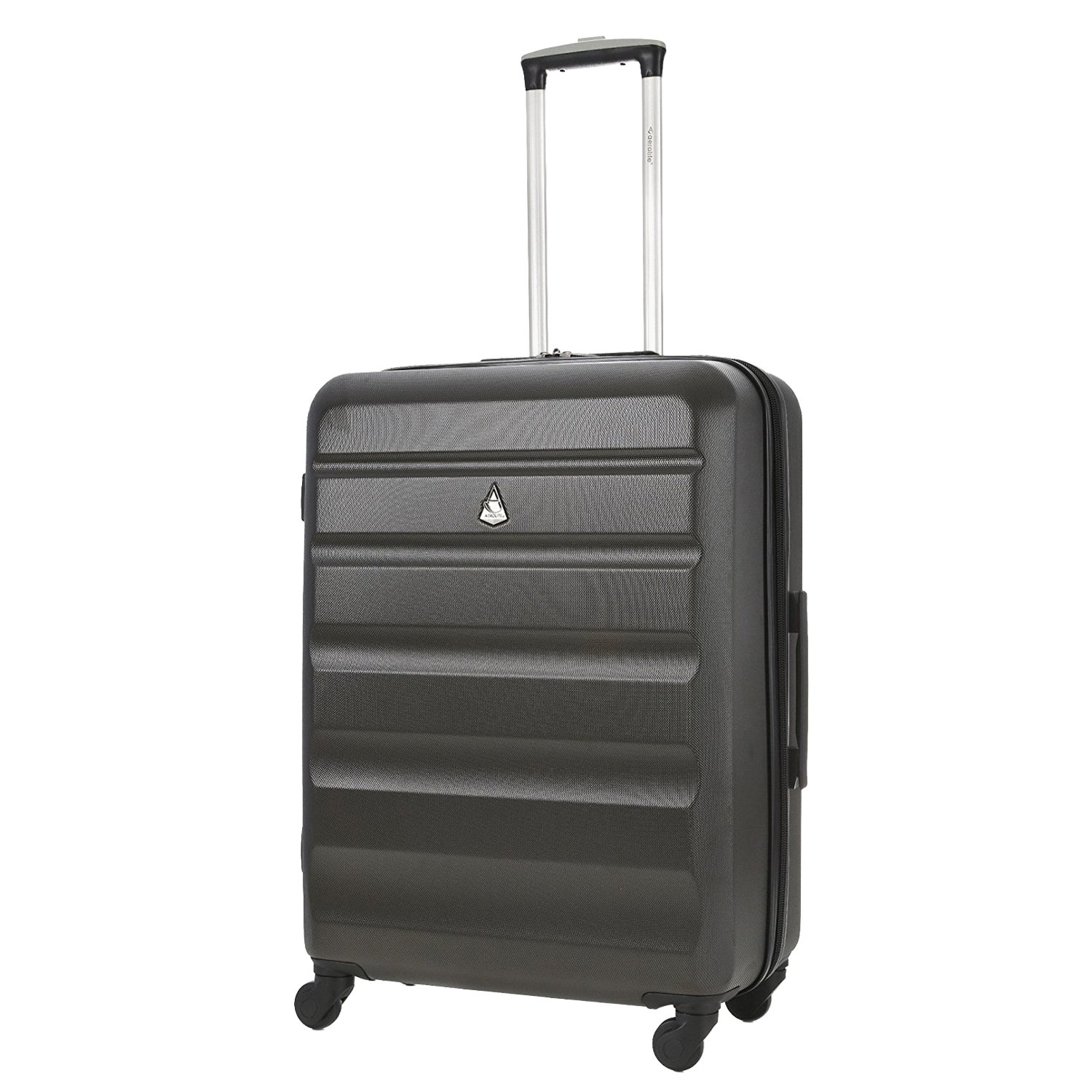 c5a26cc45f19 Aerolite Medium 25in Lightweight Hard Shell 4 Wheel Travel Hold Checked  Check in Luggage Suitcase Charcoal