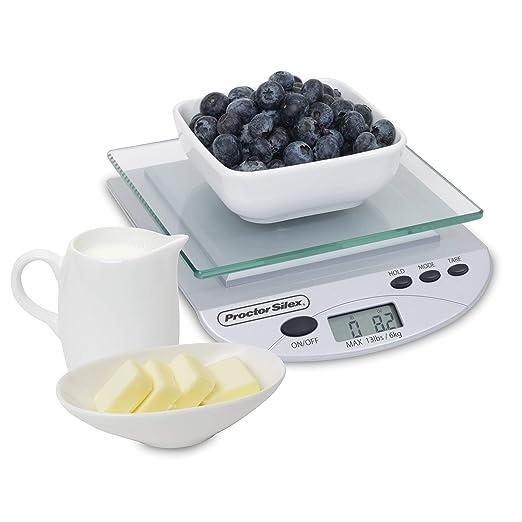 Proctor Silex 86500 - Báscula digital de cocina (tamaño ...