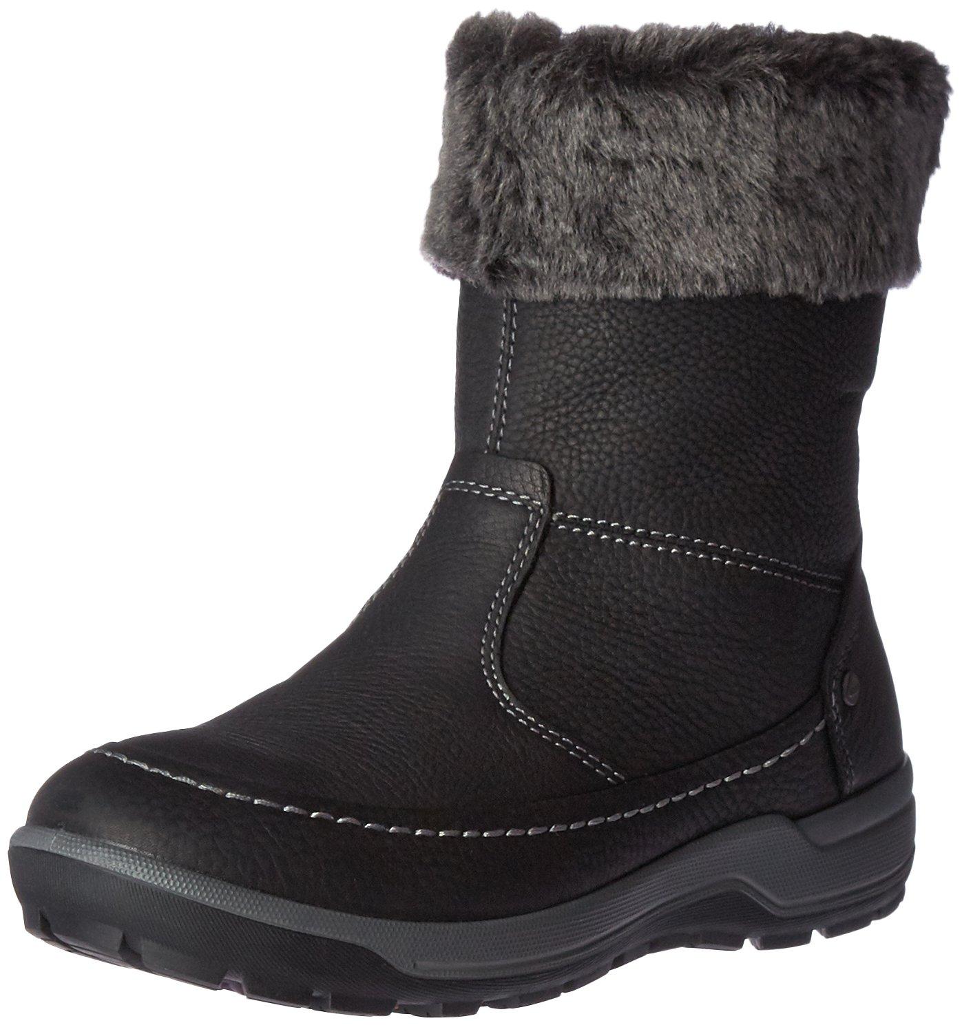 ECCO Women's Trace W Snow Boot B01A1JO89S 42 EU/11-11.5 M US|Black/Dark Shadow