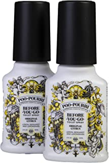 product image for Poo-Pourri Before-You-Go Toilet Spray Bottle, 2 oz, Original Scent, 2 Count