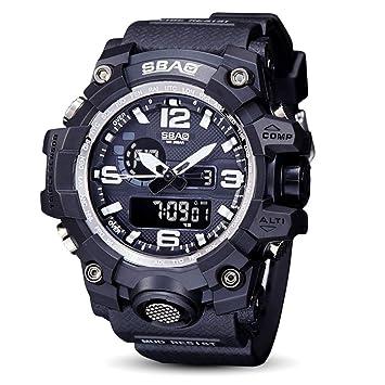 Logobeing Reloj LED Digital Hombre Pulsera Relojes Deportivos Impermeables Electrónica Digital (Negro): Amazon.es: Deportes y aire libre