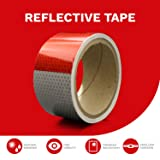 XFasten Reflective Tape, Red & White, 2 Inches by 5