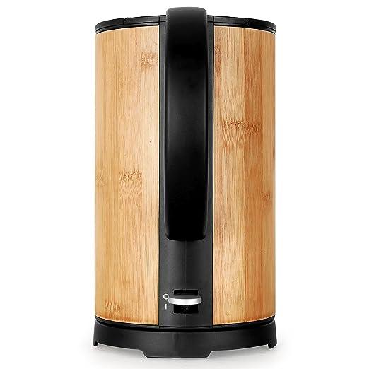 Klarstein 10012348 1.7L 2200W Negro, Madera - Tetera eléctrica (2200 W, 220-240, 160 mm, 160 mm, 265 mm, 1,07 kg): Amazon.es: Hogar
