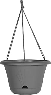 "product image for Bloem LHB13908 Lucca Self Watering Hanging Basket Planter 13"" Charcoal"
