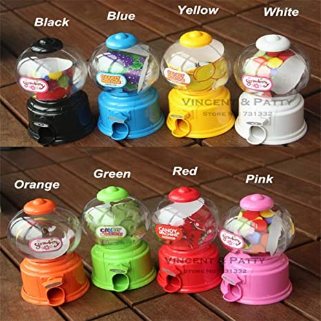 JohnJohnsen Plástico Mini máquina de Caramelo Bubble Gumball Dispensador Moneda Banco Juguete Infantil para Gumballs Cacahuetes