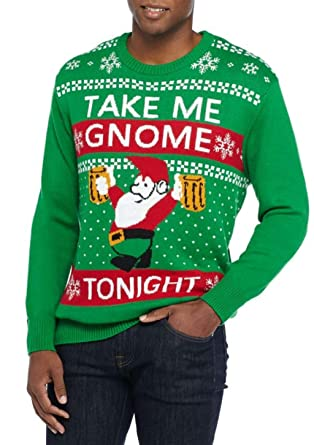 Well Worn Mens Holiday Gnome Tonight Sweater At Amazon Mens