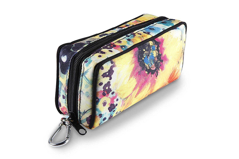 10-Bottle Essential Oil Carrying Cases Box,Essential Oils Travel Bag For doTERR Youg living Oils 5ml, 10ml and 15ml bottle (sunflower)