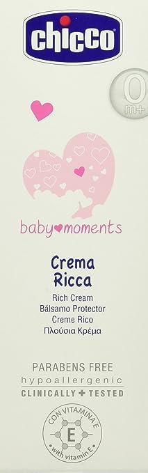 2 opinioni per Chicco Crema Ricca 100 ml Baby Moments