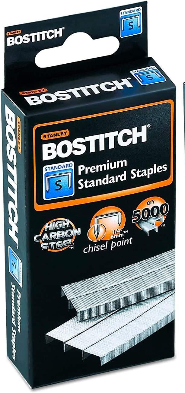 Bostitch SBS1914CP Standard Staples Box of 5000 1//4 Leg Length