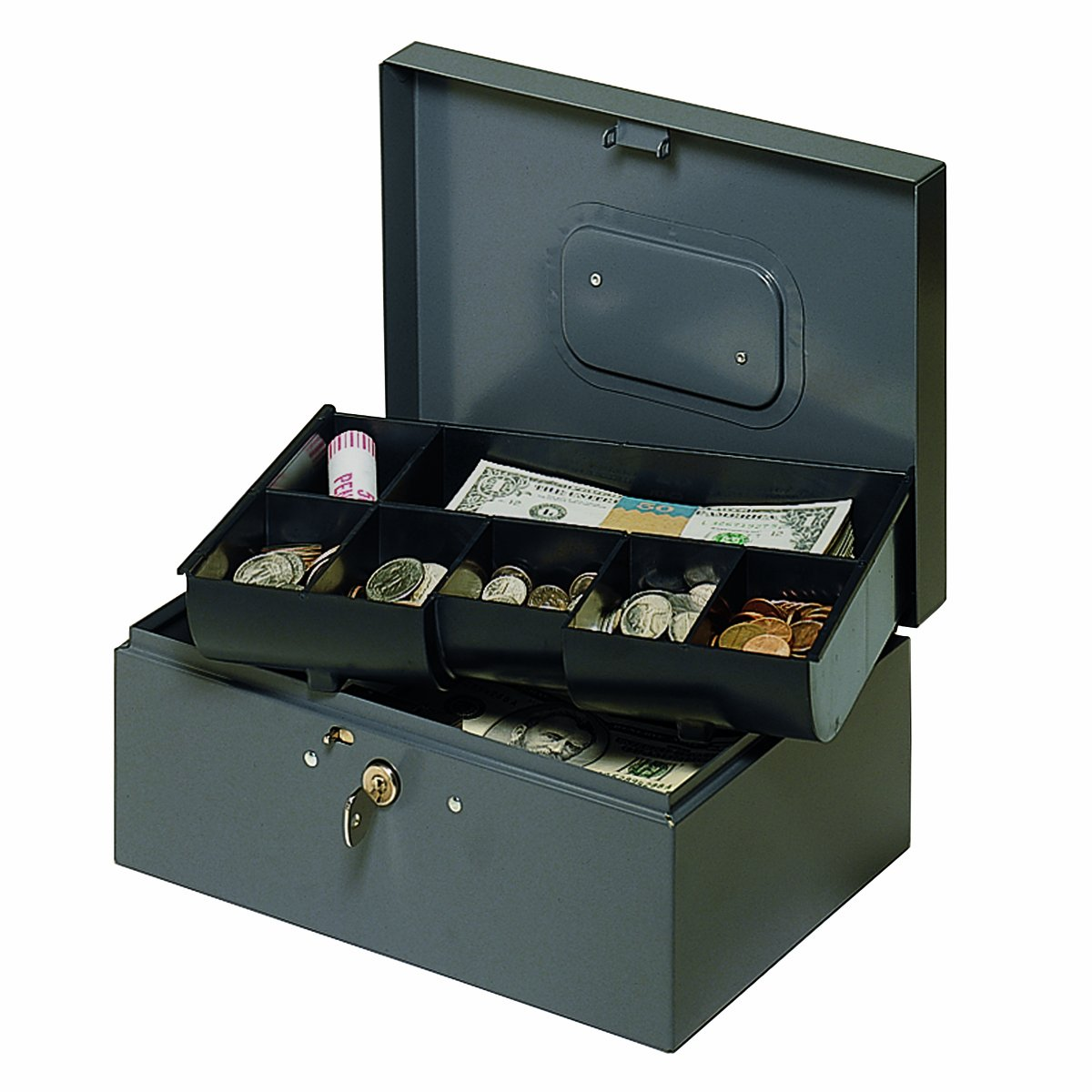 STEELMASTER Cash Box with Safety Latch and Recessed Handle (221F30GRA)