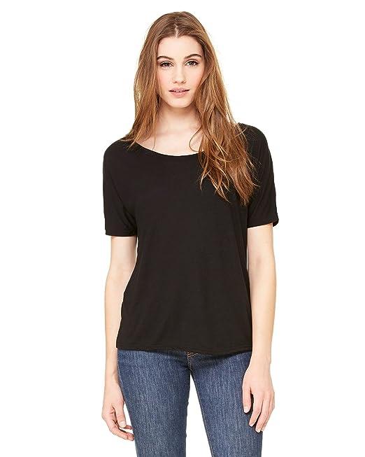 b26886cf6 Bella + Canvas Womens Slouchy T-Shirt (8816) Black: Amazon.ca ...