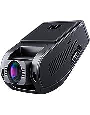 AUKEY 1080p Dash Cam avec Objectif Grand Angle 170 ° 6 Voies, enregistreur de Tableau de Bord avec capteur G, WDR, Enregistrement en Boucle et Vision Nocturne