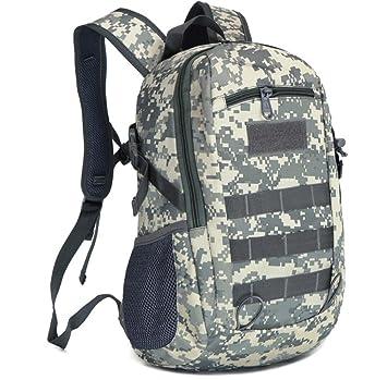 15L Military Tactical Mochila outdoor Trekking Mochila Bolsa de hombro impermeable Combat Pack para viajes Senderismo Caza Escuela, gris: Amazon.es: ...