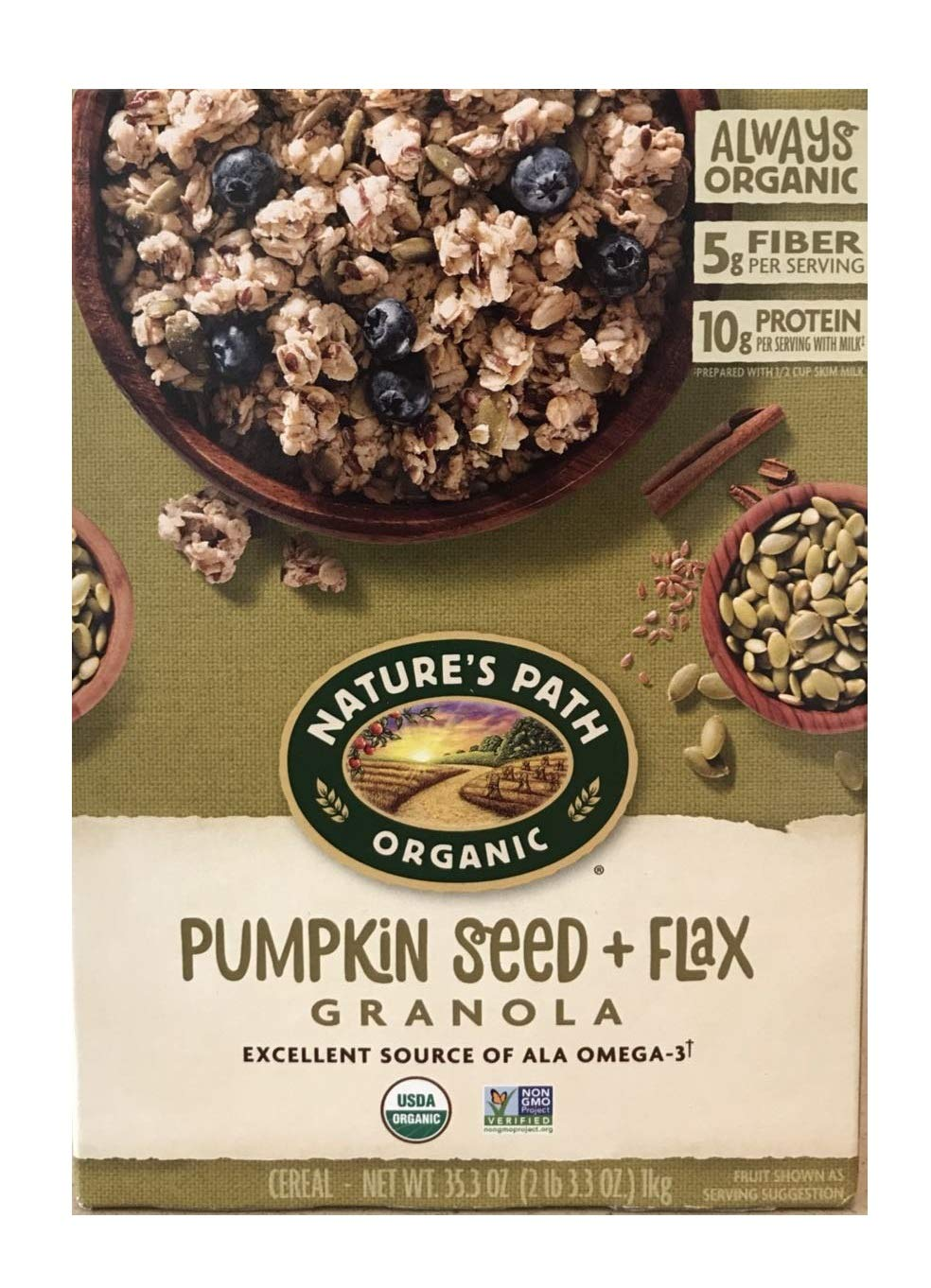 Natures Path Organic Pumpkin Seed & Flax, 35.3 Oz