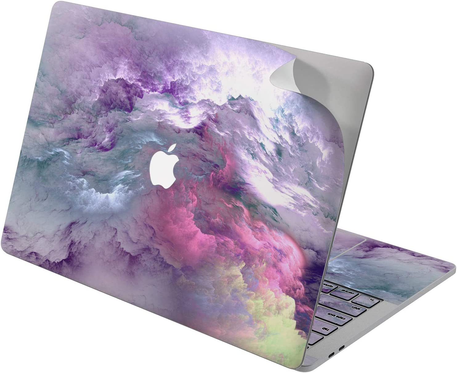 "Cavka Vinyl Decal Skin for Apple MacBook Pro 13"" 2019 15"" 2018 Air 13"" 2020 Retina 2015 Mac 11"" Mac 12"" Texture Pink Nature Laptop Purple Design Protective Sticker Cover Abstract Nice Print Paint Sky"
