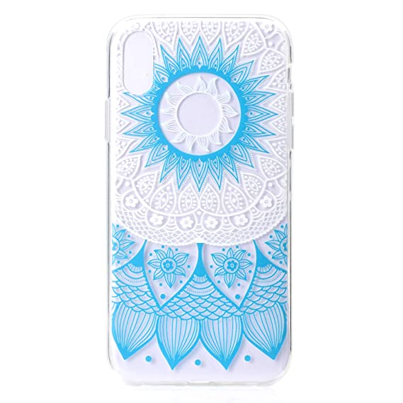 9ccdcec257 Image Unavailable. Image not available for. Color: iPhone Xs Max Case,  NowTH Slim Clear Soft TPU Stylish Painted Protective Cases ...