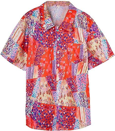 AG&T Shirt Camisa Hawaiana Hombre Manga Corta Delante de Bolsillo Impresión Hawaiana Casual Regular Fit Camisa de Hawaii: Amazon.es: Deportes y aire libre