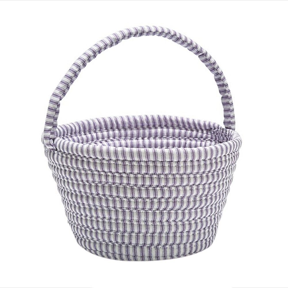 Colonial Mills Easter Home Decorative Ticking Basket Purple - 8x12x7, NEW