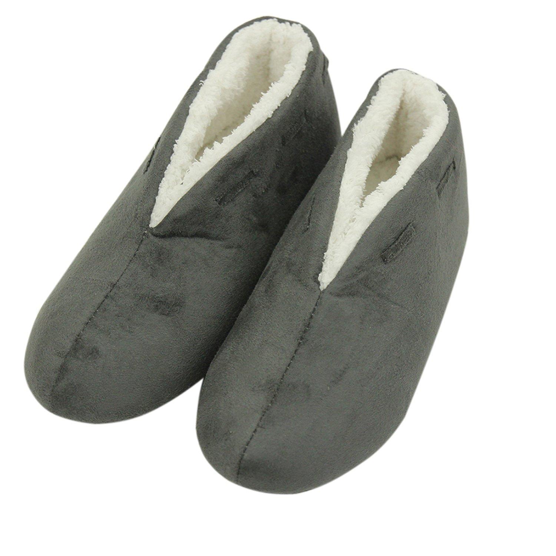 Forfoot Indoor Home Slippers Women's House Shoes Mid Calf Boot Slippers Gray Women Slippers Size Medium