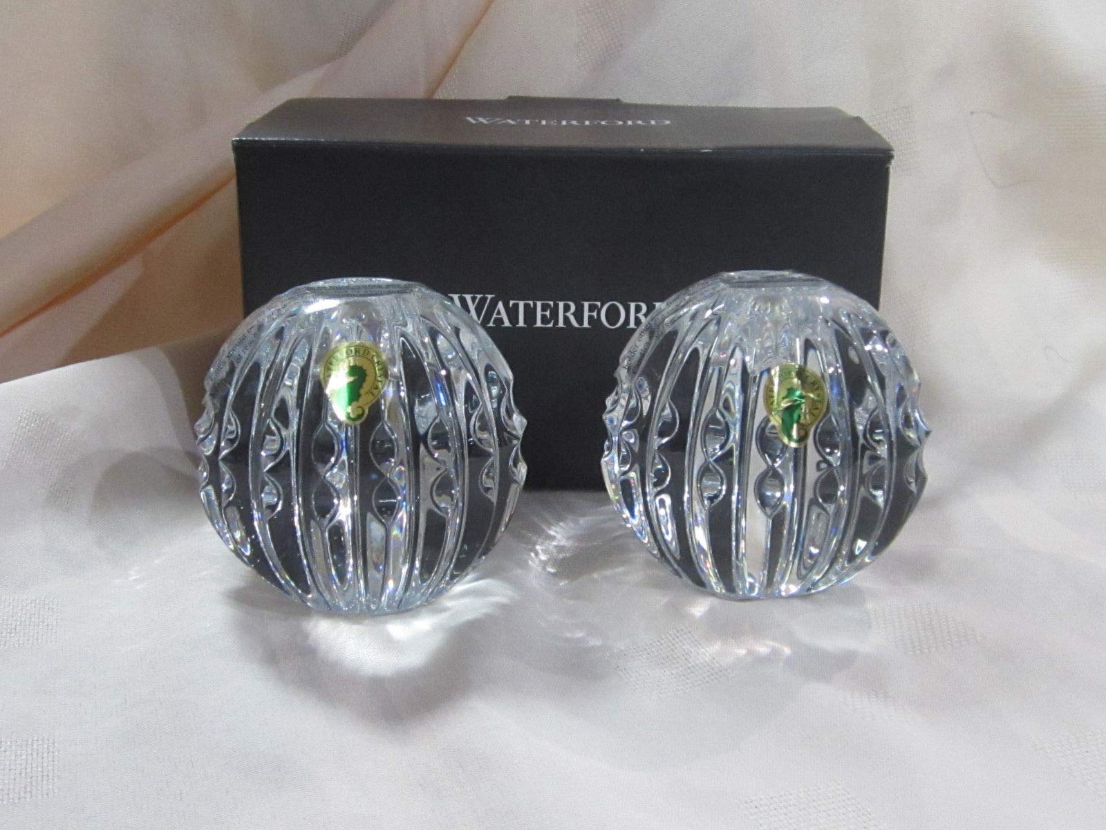 Waterford Crystal Heritage Ball Candlestick Holder Set of 2#40034814