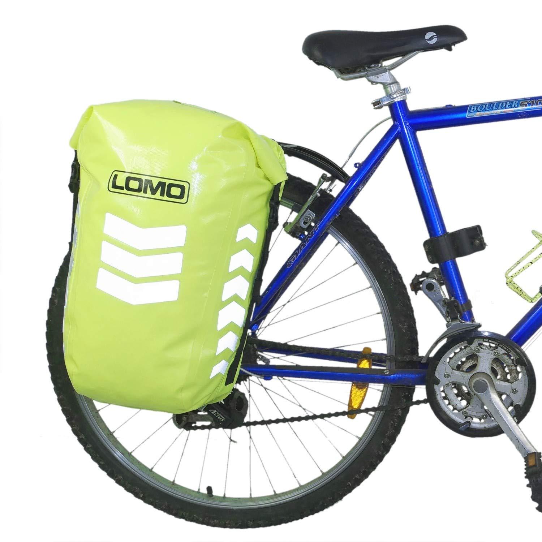 de474f7db08 Lomo Waterproof Cycling Pannier Bag. Hi Vis Dry Bag  Amazon.co.uk  Sports    Outdoors