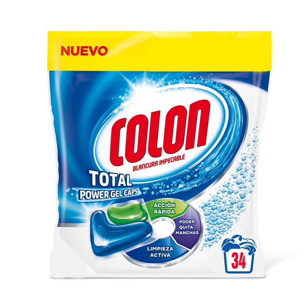 Colon Detergente para Lavadora de Ropa formato Capsulas con Quitamanchas Vanish - 50 dosis: Amazon.es: Salud y cuidado personal