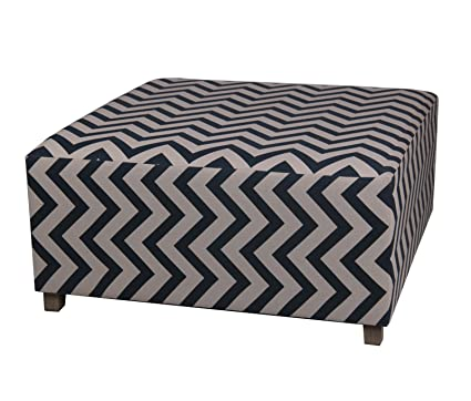 Amazoncom Privilege 68111 Square Ottoman 36 Inches Chevron Blue