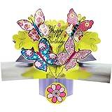 Second Nature POP034 - Biglietto di auguri in 3D per compleanno, verde