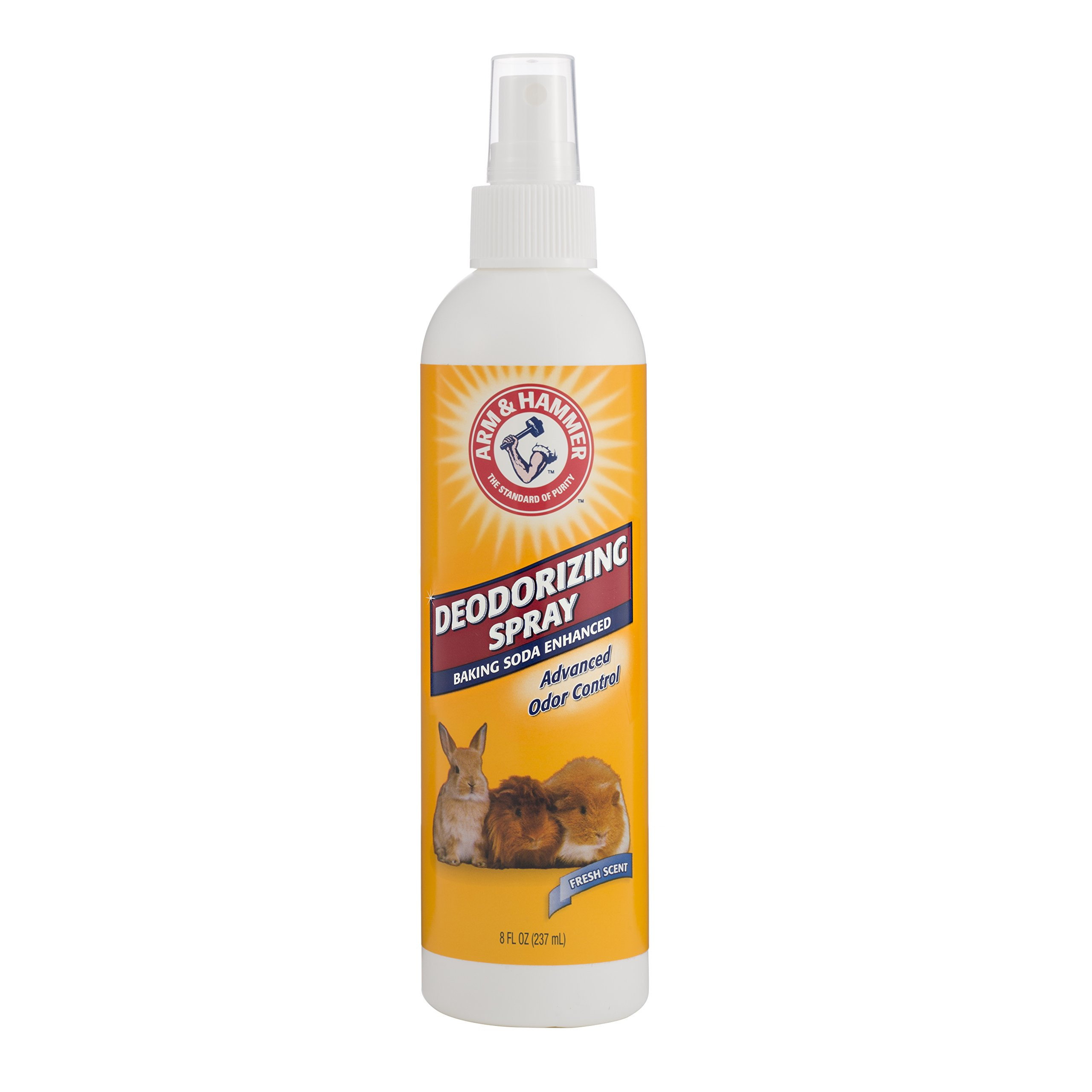 Arm & Hammer Deodorizing Spray for Small Animals | Odor Eliminator For Guinea Pigs, Hamsters, Rabbits & All Small Animals, 8 ounces, Fresh Scent