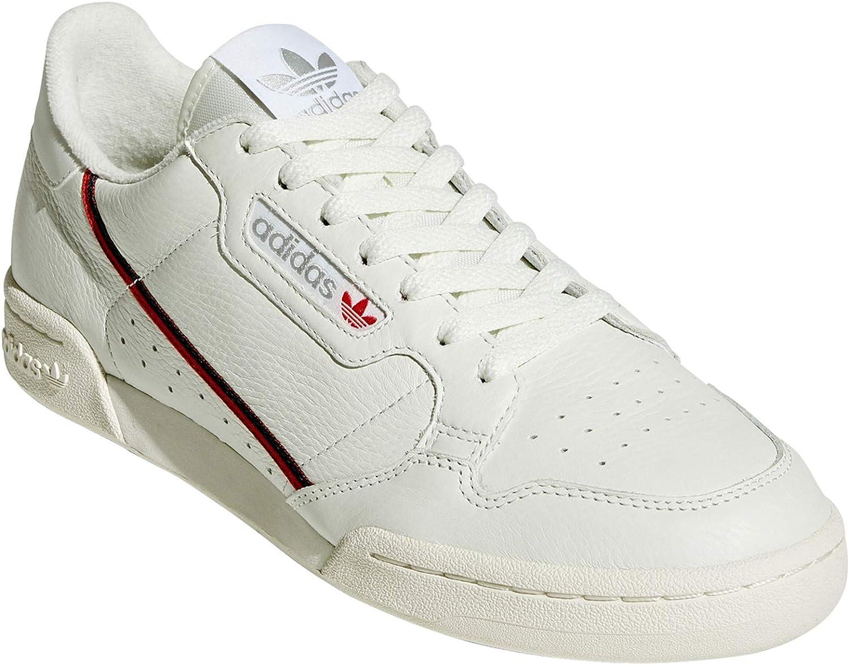 Adidas Continental 80 Sneakers voor mannen. tennis, sneakers. Vintage nostalgie Blanc Brut Rouge Noir