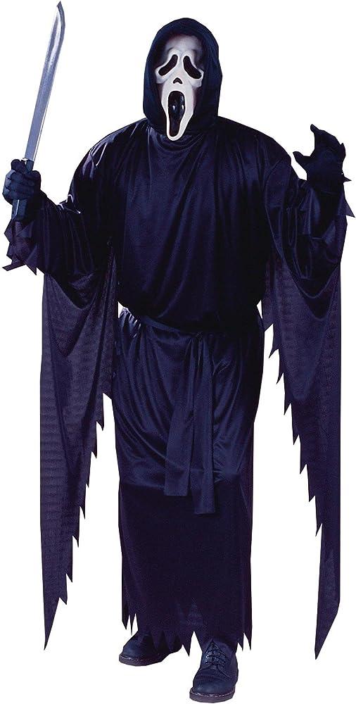 FunWorld Adultos Disfraz de Scream Ghost Face, Negro, un tamaño ...
