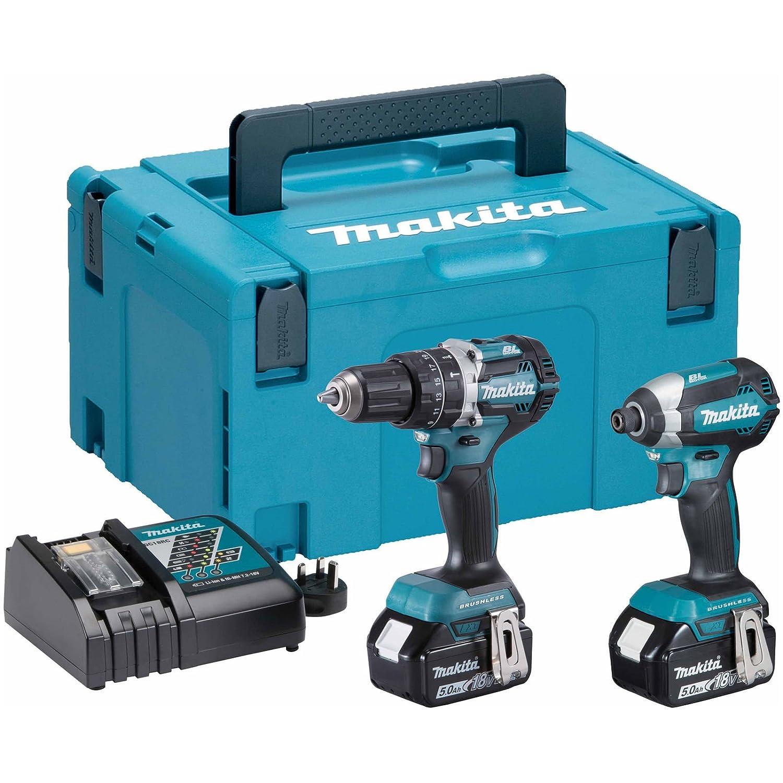 Makita DHP481Z 18V Li-ion Brushless Combi Drill with DTD152Z Impact Driver /& Bag