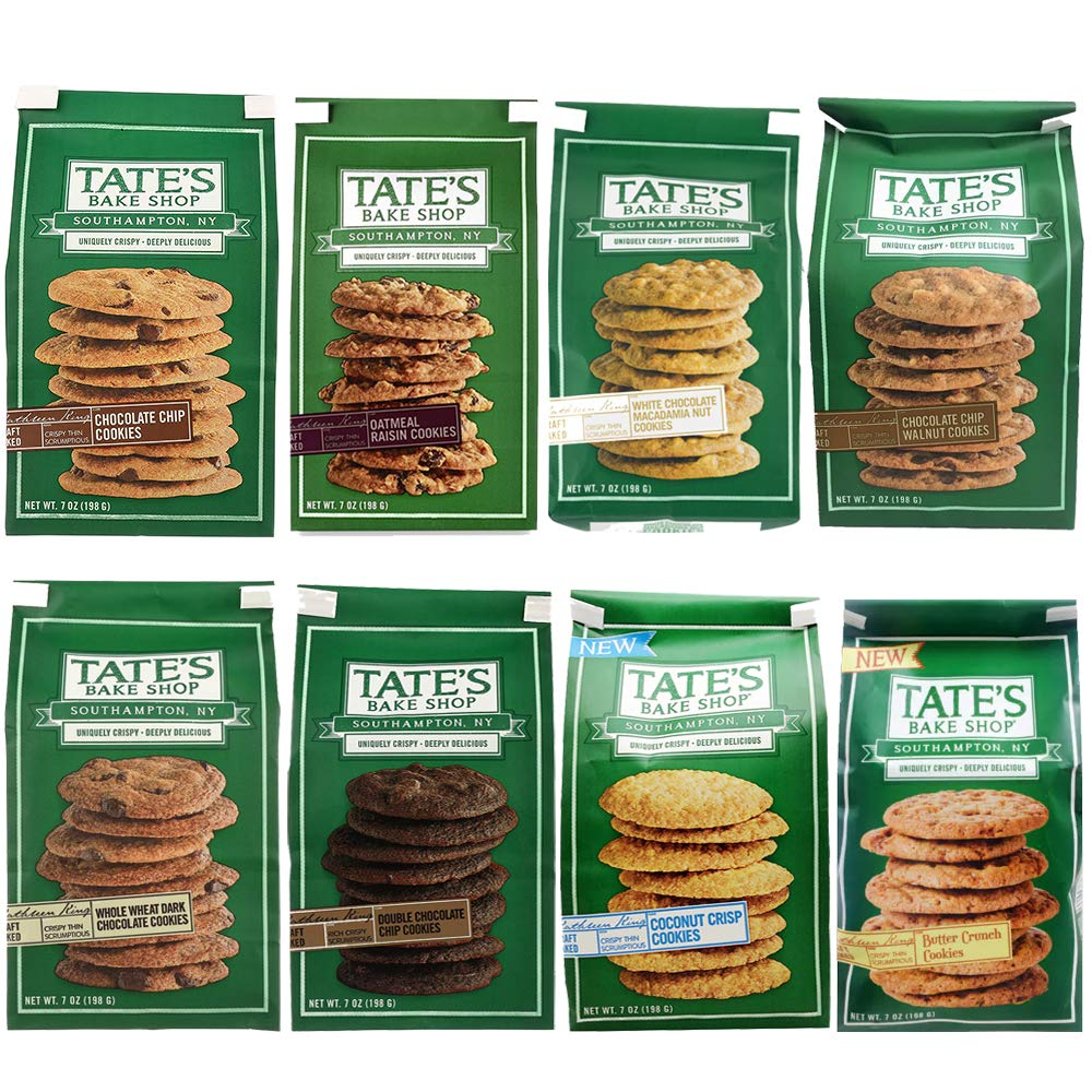 Tate's Bake Shop Variety Pack - 7 Oz Bags Pack Of All 8 Flavors by Tate's Bake Shop