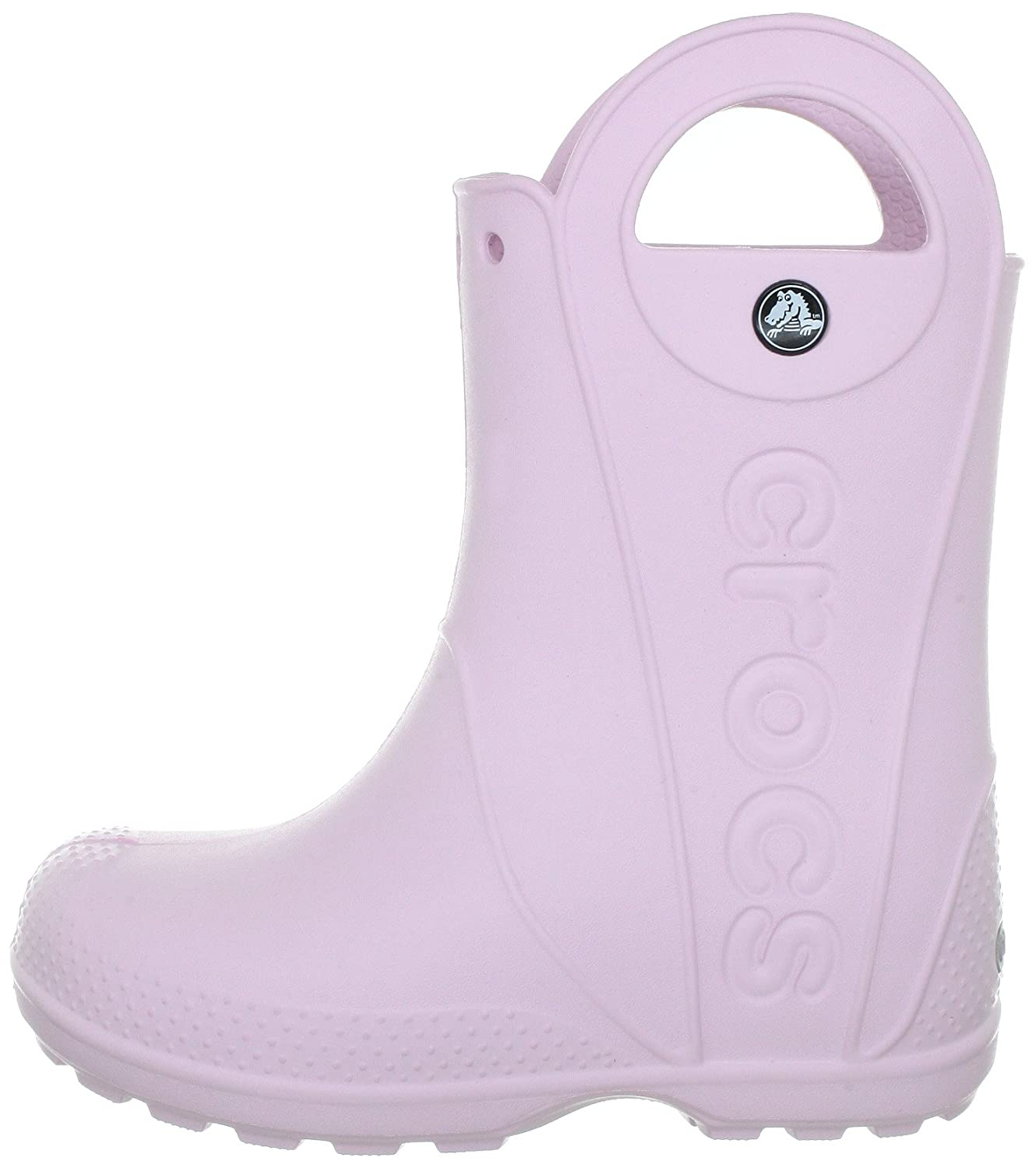 Crocs Infants//Toddlers Handle It Rain Boot,Bubblegum,US 7 M