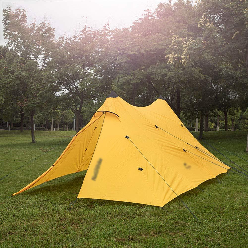 ZWYY Spacious,Anti-UVZelt, Outdoor-Wanderzelte Silica Gel OverGrößed 8 oder mehr Menschen Familie bekommen gemeinsam Party-Zelte,Gelb