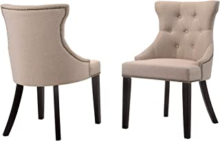 product image for Carolina Chair and Table Monaco Tufted Back Upholstered Nail Head Chair Cream N/A, Cream Finish