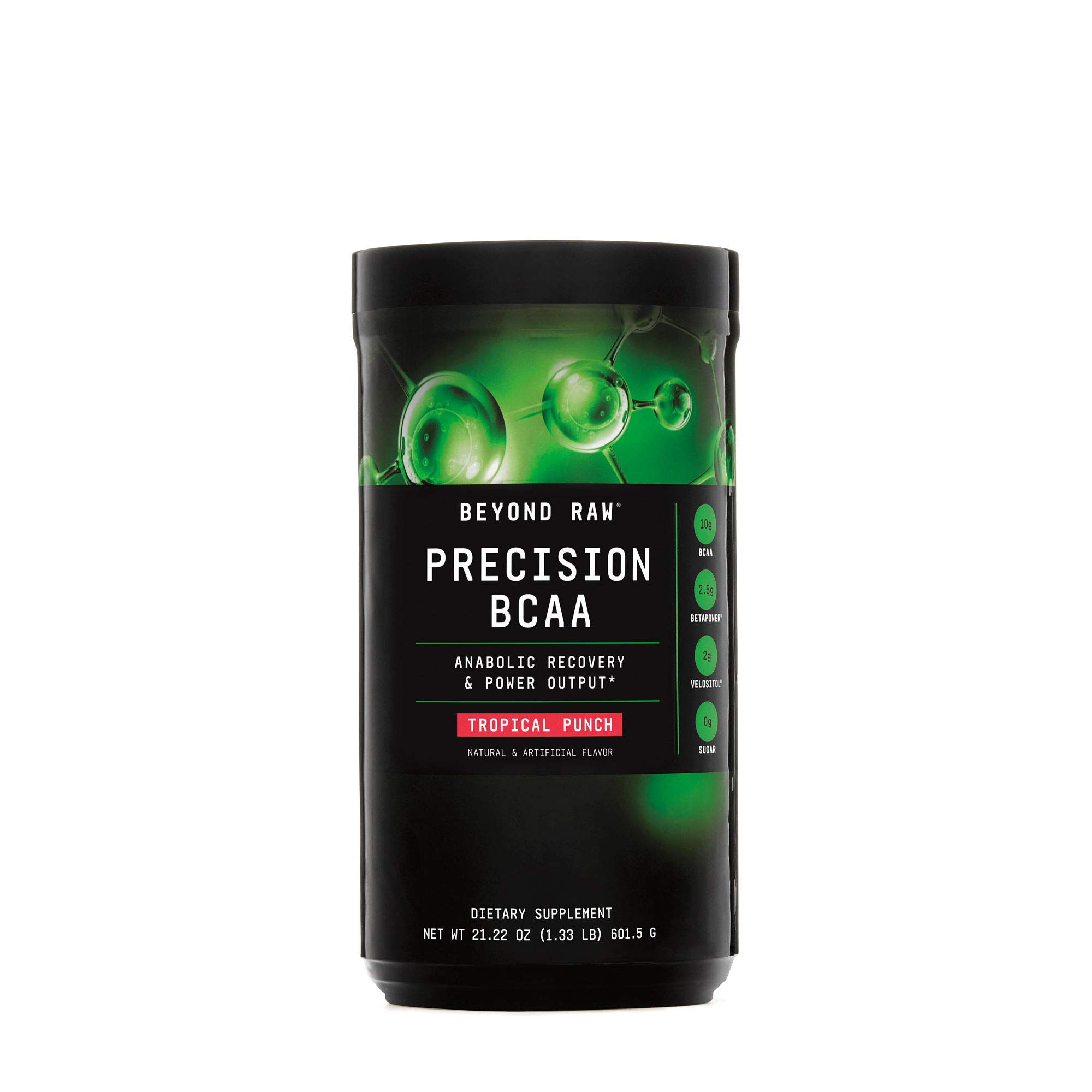 Beyond Raw Precision BCAA, Tropical Punch, 30 Servings, Provides Energy and Supports Muscle Repair