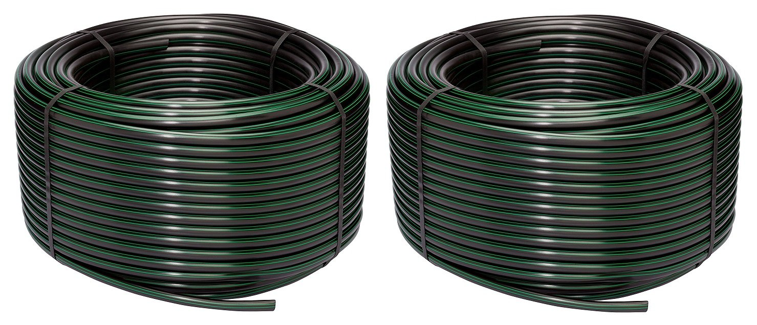 Rain Bird T63-500S Drip Irrigation 1/2'' (.630'' OD) Blank Distribution Tubing, 500' Roll, Black (Pack of 2)