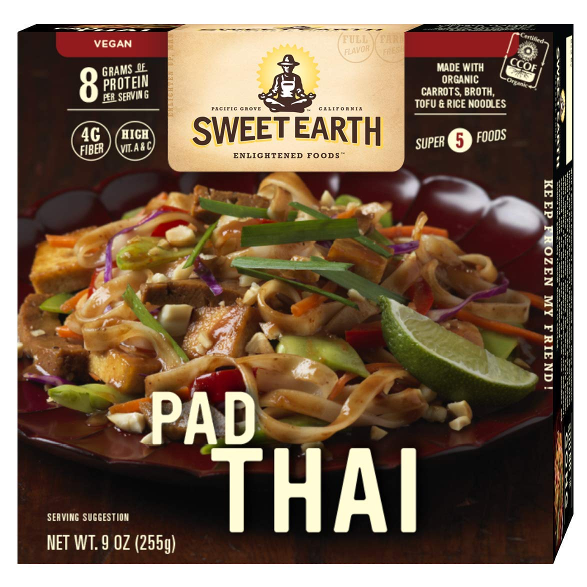 Sweet Earth Pad Thai 9 ounce (Pack of 8)