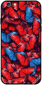 Case For iPhone 6 Plus - Red and Blue Butterflies