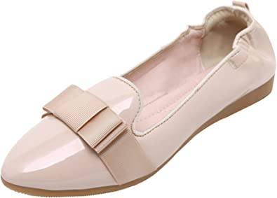 Nude Rubber Slip On Flat Shoes 8.5